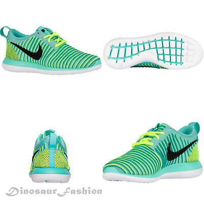 NEW GIRLS JUNIORS NIKE ROSHE TWO FLYKNIT GS Trainers Shoes