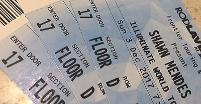 Shawn Mendes Melbourne Concert Ticket Only 2 Left Near Front Stage In Section A