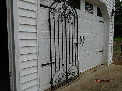 French Chateau Iron Scroll Garden / Wine Cellar Gate