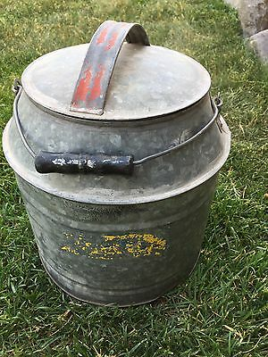 Antique Tin Milk Jug Liq. 3 Gal. with lid in Ex+ Condition, Great Collectible
