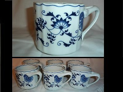 BLUE DANUBE Japan Mugs Cups Set of 6 Excellent Condition Vintage