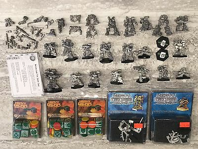 DP9 Heavy Gear Blitz Northern Guard Pewter Army Lot, Tokens Dice