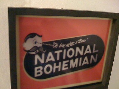 ^^^ NatBo National Bohemian Baltimore Beer Bar Advertising Man Cave Lighted Sign