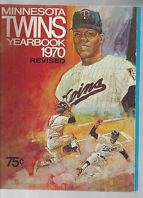 Original 1970  Minnesota TwinsYearbook - Revised Ed  - Ex  condition