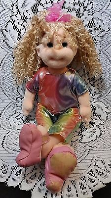 TY Beanie Boppers Collection Girl Blonde Perm Doll Fun Phoebe Iridescent Clothes