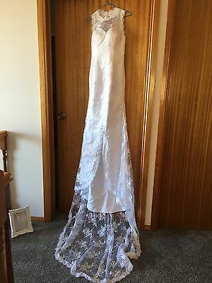 Wedding Dress White Size 6 To 8 New Without Tags