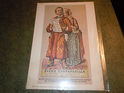 1973 Ayer's Sarsaparilla Ad. Reproduction.  Great graphics. Collectible Framable