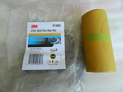 3M 01353 Stikit Gold 6 P400 Grit Film Disc Roll 01353-4PK Pack of 4