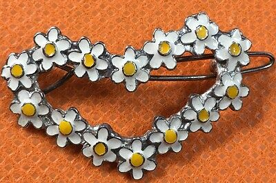Daisy Heart Metal Hair Clip Barrette For Women Girl Kids Gift