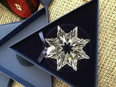 Swarovski Crystal Snowflake Christmas Ornament 2003 Brand New Pristine Retired