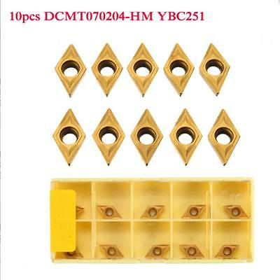 10x DCMT070204 DCMT0702 YBC251 Carbide Inserts For Lathe Turning Tool Boring Bar
