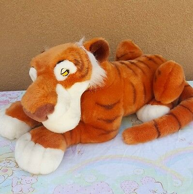 "Jungle Book Shere Khan Tiger with Tags Large 18"" Plush Disney Store Exclusive"