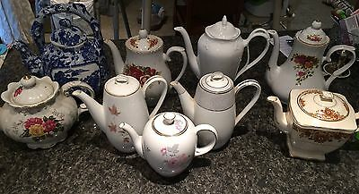 Vintage Estate Bulk Lot Tea Pots Regal Noritake England Japan Royal China