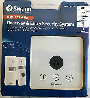 SWANN DOORWAY AND ENTRY SECURITY SYSTEM Wireless DIY Motion Detection Bell NEW
