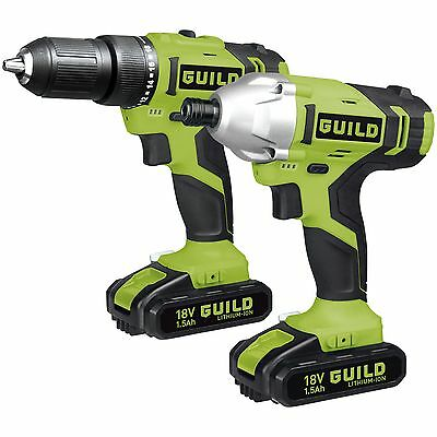 Guild Combi and Impact Driver Twinpack - 18V. From the Argos Shop on ebay