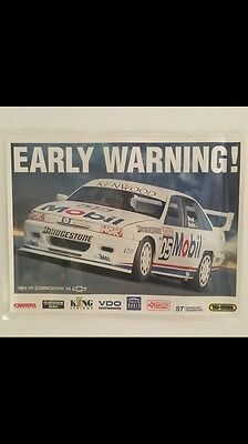 Peter Brock HDT Holden Commodore V8 Supercars LAMINATED poster Chev Bar Man Cave
