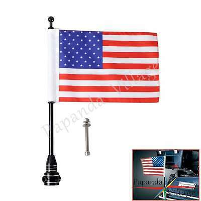 Motorcycle Bike American USA Flag pole Mount For Harley Davidson Street Glide