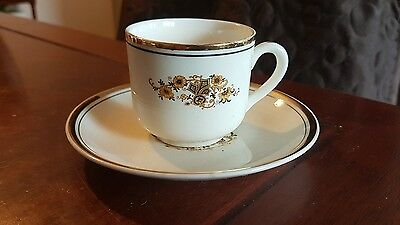 Her Majesty deluxe imperial ware 22k gold cup and saucer