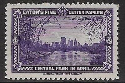 USA Cinderella: Eaton's Fine Letter Papers 1939: Central Park in April - dw981a