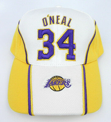 LOS ANGELES LAKERS Shaquille O neal Shaq  34 Nba Vintage Cap Hat New ... e13d7475d6cd