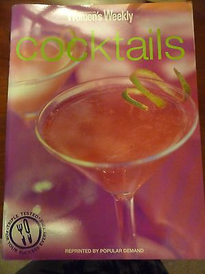 Womens Weekly COCKTAILS Recipe Book 126pgs EUC