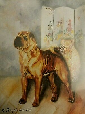 Ruth Maystead Dog Note Cards Sharpei Chinese Shar Pei