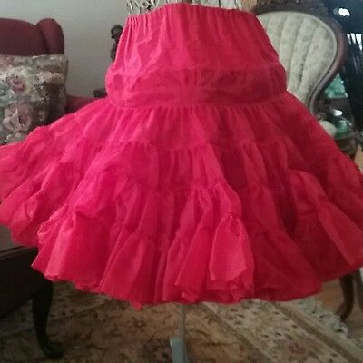 Square Dance Petticoat Red Very Full  Rockabilly