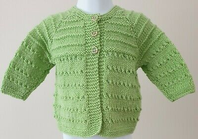 Hand Knitted Baby Matinee Coat to fit Age 6 to 12 Months Approx