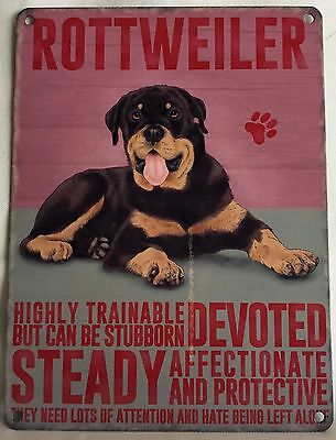 Rottweiler  Dog  Breed Metal Sign ~ New