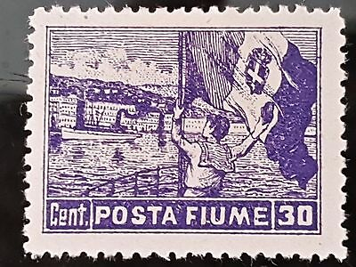 Fiume 1919 Sc # 48 30c Violet Mint Hinged Stamp