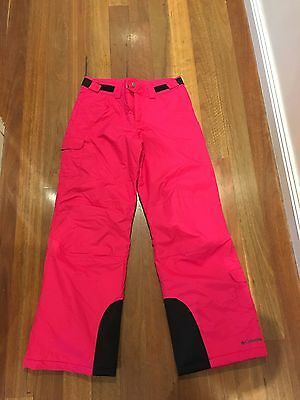 Columbia - Girls Size 14 /16 Hot Pink Ski / Snowboard Pants