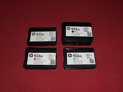 4 leere Original Drucker Patronen HP 932XL, 933XL leer virgin