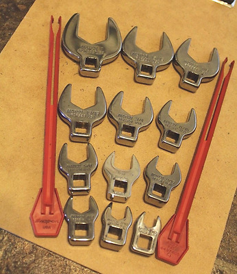 "Matco Open End Wrenchs (12 pc SET) 1"" to 3/8"" Snap On"