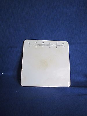 RARE ANTIQUE PORCELAIN PILL TILE for MEDICAL RX DOSE MIX GERMANY 10x10x1/2""