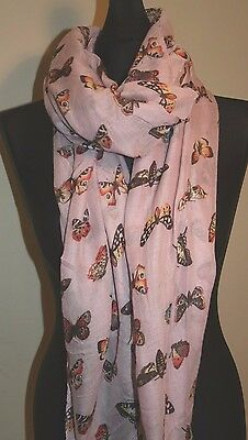 Butterfly Print Design Ladies Soft Fashion Scarf, Scarves, Wrap, Shawl,Sarong