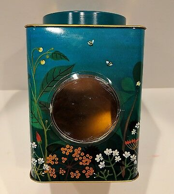 Vintage Floral Bee Window Tin Made in England Global Shipping