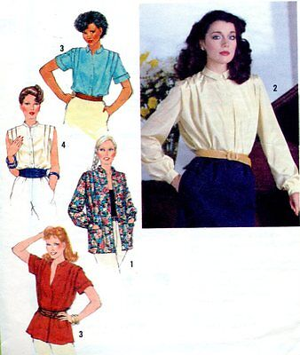 Cut Sewing pattern Ladies Retro Blouse Shirt Size 12. Dated 1979