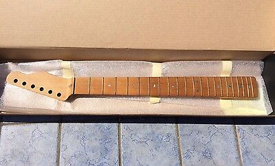 New USACG High end Custom Telecaster Neck Roasted (baked) Quartersawn maple