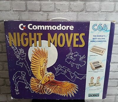 BOXED Commodore 64 C64 Night Moves / Mindbenders System Computer Console BUNDLE
