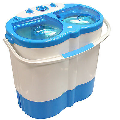 Portable Twin Tub Washing Machine Spin Dryer Camping Caravan Motorhome Boat Tent