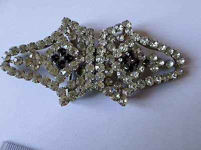 Vintage  early 20th century paste diamnte set belt buckle