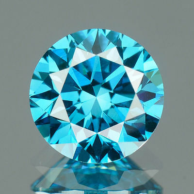 CERTIFIED .053 cts. Round Cut Vivid Blue Color VVS Loose Real/Natural Diamond 8G