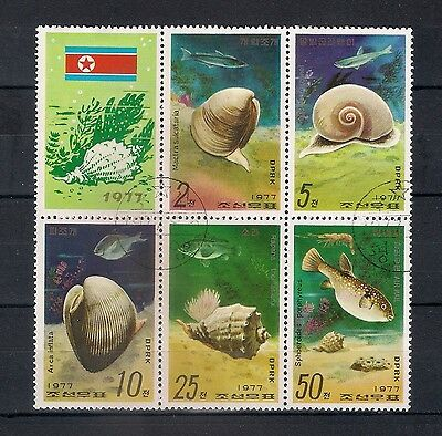 KOREA DPR 1977  Shell-Fish and Fish  USED - 1