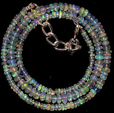 49 Crt 1 Strand 3.5 mm to 5 mm 17.4 Natural Ethiopian Opal Gemstone Beads 0014