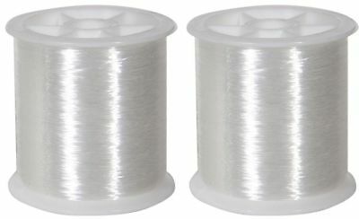 SEWING SELVEDGE TRANSPARENT POLYESTER THREADS REEL SPOOLS 80m 2pcs
