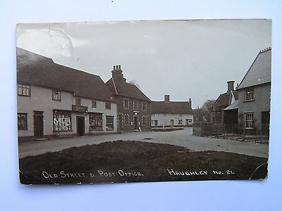 Old Street & Post Office Haughley Village Suffolk RP Postcard c1905