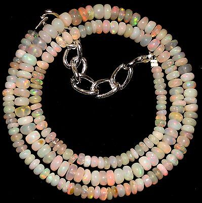 50 Crt 1 Strand 3.5 mm to 5 mm 16.4 Natural Ethiopian Opal Gemstone Beads 0028