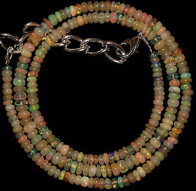 40 Crt 1 Strand 3 mm to 4 mm 16.5 Natural Ethiopian Opal Gemstone Beads 0032