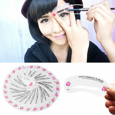 Eyebrow Shaping Stencils Grooming Kit Shaper Template 24pcs