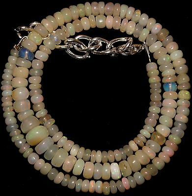 62 Crt 1 Strand 4 mm to 7.5 mm 16.7 Natural Ethiopian Opal Gemstone Beads 0034